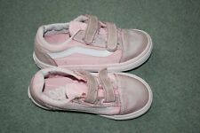 Girls Pink Vans Trainers Size 9k infant child velcro