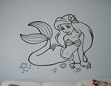 Disney Princess Ariel Vinyl Decal Mermaid Vinyl Sticker Cartoon Home Interior 1