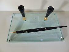 Omas Pen Desk Stand Fountain Pen 18k Nib Cristal NOS Very Rare Collectible