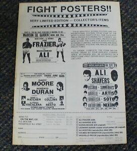 Fight Posters Magazine Frazier Ali Moore Duran #18 1985 no cover