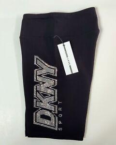 Women's DKNY Sport Shorts Athletic High Waisted Bike Shorts Black Size Medium