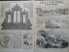 L'ILLUSTRATION 1855 N 645  LA BATTERIE AK-BOURNOU DANS LA MER D' AZOF, EN CRIMEE