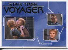 Star Trek Voyager H&V Gold Parallel Relationships Chase Card R4 Neelix and Kes