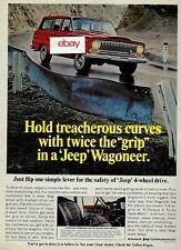 JEEP KAISER 4 DOOR WAGONER WITH TWICE THE GRIP ON TREACHEROUS CURVES 1972 AD
