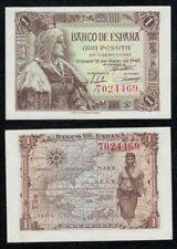 "1 peseta 1945 SIN SERIE nº 2818491 ""Isabel La Católica"" SIN CIRCULAR PLANCHA."