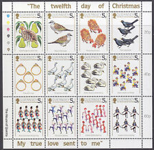 Guernsey 1984 Twelve Days of Christmas Sheetlet UM SG316a Cat £2.00