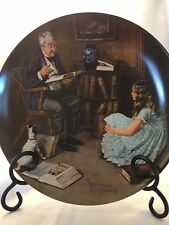 Knowles 1984 The Storyteller By Norman Rockwell Collectors Original Box And COA