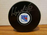 Wayne Gretzky Signed New York Rangers hockey puck COA