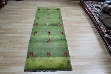 An outstanding Persian Shiraz Gabbeh runner hand made wool rug 215 x 75 cm