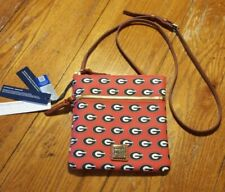 NWT Dooney & Bourke UGA Georgia Bulldogs Double Zip Crossbody Purse Retail $128