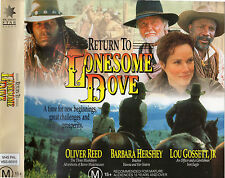RETURN TO LONESOME DOVE -2 x VHS BOX SET-NEW & SEALED -NEVER PLAYED! -VERY RARE!
