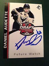 Daniel Audette SIGNED Custom Photo Card SHERBROOKE PHOENIX / MONTREAL CANADIENS