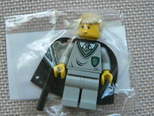 Lego Harry Potter Draco Malfoy Minifig with cloak, wand