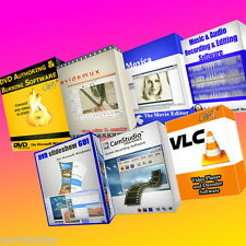 Professional Video & Audio editing-media bundle software - 7 programmi per 1 CD!