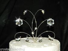 Swarovski Elements Crystal SNOWFLAKE wedding cake topper decoration