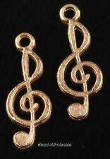 New10pcs  Music notation connectors for bracelet tibetan silver Charm pendant
