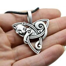 Celtic Knot Norse Viking Triquetra Amulet Pendant Necklace & Gift Bag