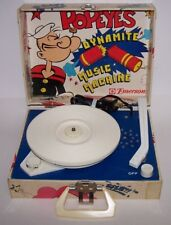 Popeye's Dynomite Music Machine Portable Record Player Turntable Works Emerson