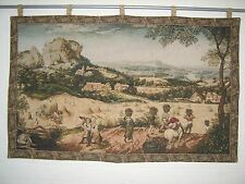 GRAPE HARVEST TAPESTRY WALL HANGING measures 42 X 27.5 inches; 106 X 70 cm
