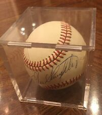 ENOS COUNTRY SLAUGHTER ST LOUIS CARDINALS YANKEES  AUTOGRAPHED   BASEBALL Case