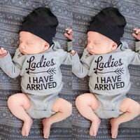 Newborn Toddler Baby Boy Girls Cotton Rompers Jumpsuit Bodysuit Clothes C1MY