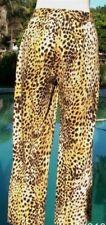 Cache Stretch Crop Pant Sz XS/S 2/4/6 Stretch Animal Print Ankle Zipper NWT $98