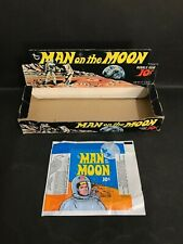 MAN ON THE MOON TOPPS RARE TRADING CARD BOX & WAX WRAPPER FROM 1969