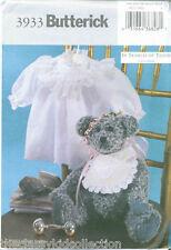 Butterick 16 Victorian Bear Pattern with Dress #3933