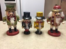 """Lot if 4 Christmas Nutcrackers 4.75""""-6"""" Soldier 2 are by Albert E Price"""