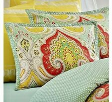 NEW Echo Jaipur Duvet Cover queen shams, boho, aqua, yellow, red, cotton