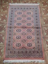Fine Weave New Handmade Rug (31 x 50 in) 3' x 4' Light Coral - Caring Rug