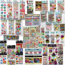 Birthday🎈Scrapbook Stickers Jolee's💗Martha Stewart🌻K & Company💕Cupcakes Bake