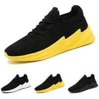 Men's Mesh Breathable Lace up Outdoor Running Flats Sport Leisure Sneakers Shoes