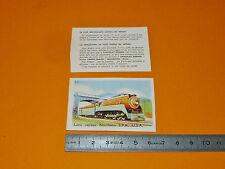 CHROMO 1950 CHOCOLAT KEMMEL TRAINS RAIL LOCO VAPEUR NORTHERN S.P.R. USA