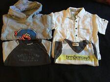 Boys Timberland Jumper & Sweater/ Next Shirt/ Elmo Hoodie 2-3 Yrs Bundle