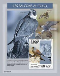 Togo - 2019 Bird of Prey Falcon - Stamp Souvenir Sheet - TG190356b
