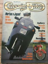 Classic Bike Magazine - July 1988 - Laverda SFC750, Norton Commander, Tiger T110