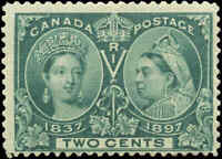 1897 Mint NH Canada F Scott #52 2c Diamond Jubilee Issue Stamp