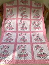 Handmade Applique Quilt Pinks~Southern Belle Parasol Crinoline Lady~160x260cm
