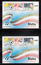103599/ Malta 1990 - Bl. 11 - Fußballweltmeisterschaft - **/o - M€ 7,50