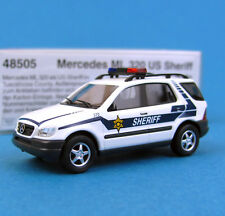 Busch H0 48505 MERCEDES ML 320 US Sheriff USA Police HO 1:87 OVP Box MB