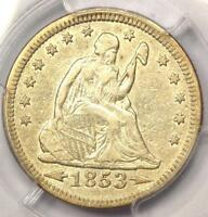 1853 Arrows & Rays Seated Liberty Quarter 25C - PCGS AU Details - Rare Type Coin