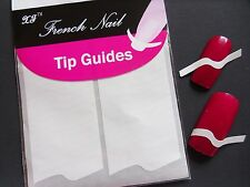 Nail Art White French Manicure Guide WavE Style Tip Manicure Stickers Stencil 01
