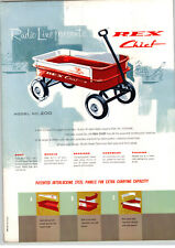 1961 PAPER AD 2 Sided Radio Steel Rex Chief Coaster Wagon Town & Country Stake