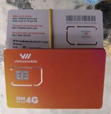 NEW! Vietnam SIM card VIETNAMOBILE ROAMING WORKS UNLIMITED INTERNET vietnamese