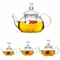 350-1000ml Glass Teapot Heat Resistant Green Red Tea Coffee Pot With Filter Home