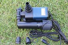 3200 GPH Koi Pond Pump - Mag Drive, Extremely Efficient + 9watts uv light combo