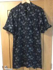 Next Black Floral Dress Size 14