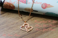 18ct Rose Gold PlatedJewellery Gifts NEVAEH Name Necklace Stainless Steel