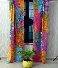 Flower Ombre Mandala Wall Hanging Door Window Curtain Drape Valance Indian Art